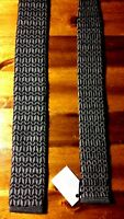 Stafford Blue Gray Geometric Square End Tie 100% Wool 1.75 - 54.5 Knit Italy