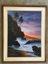 """Noelito- """"Tranquility Beach""""- # 1 canvas print- Hawaiian Seascape"""