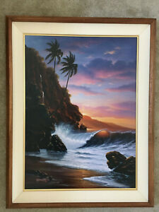 "Noelito- ""Tranquility Beach""- # 1 canvas print- Hawaiian Seascape"