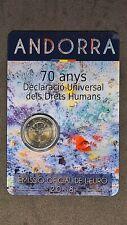 2 Euro 2018 Andorra Menschenrechte Humans in Coincard st, Gedenkmünze