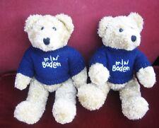Vintage teddy bear twins . 12 inch . Wearing Boden jumpers