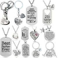 Christmas Gift For Mom Dad Best Friends Pendant Chain Necklace Xmas Gift Present