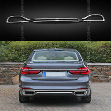 3x Rear Bumper & Rear Cylinder Exhaust Cover Trim For BMW 7 Series G11 G12 16-18