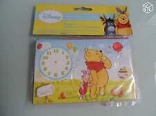 paquet 6 cartes doubles invitation enveloppe WINNIE l'ourson disney anniversaire