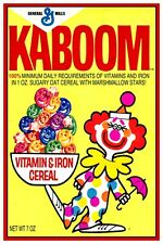 """KABOOM CEREAL BOX POSTER  - 12"""" x 18"""""""