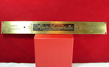 VTG HEARSE SPECIALISTS Alpe & Saunders, Ltd. COACHWORK SIGN London Rare! OLD!