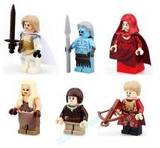 6 PCS Set Game of Thrones Figures White Walker Daenerys Jaime Joffrey Bricks Toy
