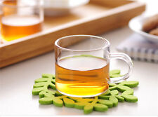 100ml 3.3fl.oz Heat Resisted Clear Glass Tea Cup Handmade Milk Coffee  Mug