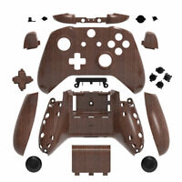 Wood Grain Xbox One S X Controller Shell Case Buttons Mod Kit Full Custom DIY