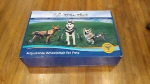 "Walkin Wheels Dog Wheelchair med/Large 13""-16"" FOF, 9"" Struts, 12"" tires, blue"