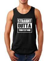 Men's Tank Top Straight Outta Shirt Personalized Customized T-Shirt Custom Made
