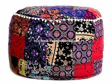 Large Indian Patchwork Ottoman Pouffe Footstool Pouf Cover Decorative Throw 24""