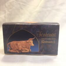 "Fontanini Heirloom Nativity Seated Ox Stable Animal 5"" Model #52534, In Box"