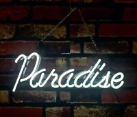 """Paradise"" Boutique Shop Store Beer Bar Pub Room Decor Neon Wall Sign"