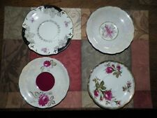 4 VINTAGE Chase Japan Hand Decorated Plates,Dishes,Saucers,Candy,Tray,Butter Pat