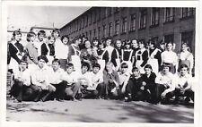 1970s School class Pretty teen girls boys uniform fashion Soviet Russian photo