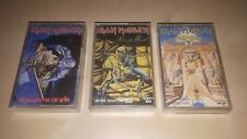 IRON MAIDEN 3 X CASSETTE ALBUMS PIECE OF MIND NO PRAYER FOR THE DYING POWERSLAVE