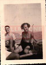 FOTO DEL 1940 RAGAZZI SU BARCA GOZZO A SANTA MARGHERITA LIGURE C8-572