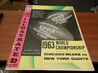 1963 NFL WORLD CHAMPIONSHIP PROGRAM CHICAGO BEARS vs NEW YORK GIANTS WRIGLEY