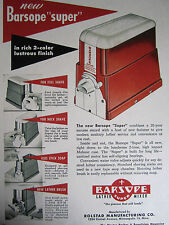"""Vintage 1950's Advertising BARSOPE """"INSTANT SHAVING LATHER MACHINE"""" Color Sign"""