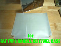 Open Mouth Outer Plastic Sleeves for CD FAT TYPE DOUBLE Jewel Cases 100