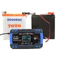 FOXsur 12V 8A 24V 4A Chargeur de RéParation D'Impulsion avec éCran LCD, Char ji9