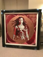 Zombiedan 'Wonder Woman' - Original Painting - Red/Bronze Colourway.