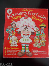 """1981 Parker Brothers Strawberry Shortcake Game Basket. 4 """"Berry"""" Fun Games"""