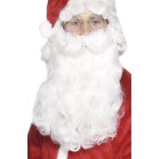 blanc SANTA Barbe de luxe bouclé homme Noël accessoire déguisement