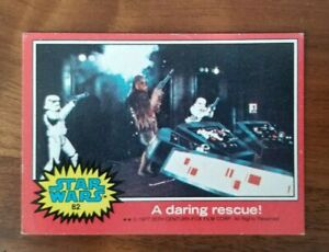 1977 Topps Star Wars #82, Chewbacca, Stormtroppers A Daring Rescue, Series 2 Red