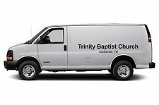 Church Van Lettering Sign Vinyl Decal Stickers 2 pc set - 90 inches