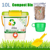 10L Recycle Composter Aerated Compost Bin Bokashi Bucket Kitchen Food Waste UK