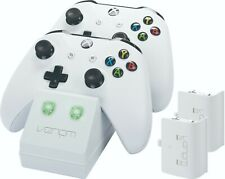 Venom Xbox One Twin Charging Dock with 2 Rechargeable Battery Packs - White