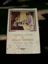 Vintage 1923 Original Singer Library Book 1 Shortcuts To Home Sewing Excellent