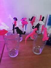 6 party wine glass charms/clips/decorations
