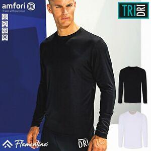 TriDri Long Sleeve Performance T-Shirt Sports Gym Top Training Workout Running