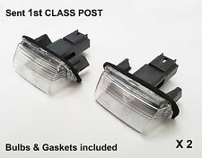 2x Citroen C3 C4 C5 DS4 Saxo Xsara Picasso Berlingo Rear Number Plate Lamp Light