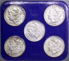 The Morgan Dollar Collection 5 Coin Set w/ box & COA 1881 1885 1897 1889 1890 O