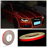 Reflective Sticker Tape Car truck Body Stripe DIY Self Adhesive 1cmx150feet Red