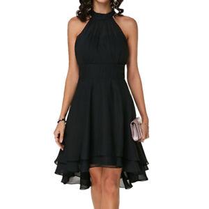 Plus Size Ladies Travel Sleeveless Dress Evening Party Cocktail Prom Mini Dress