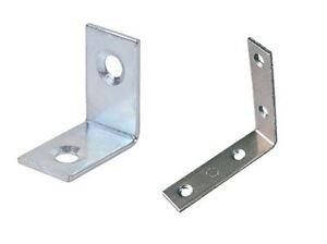 10x Stainless Steel Zinc-Plated L Shape Corner Shelf Brackets Right Angle