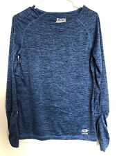 LOTTO WOMEN'S CREW-NECK LONG SLEEVE SHIRT SIZE S  X-DRY SOFT BLUE-SPACE COLOR