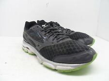 Mizuno Men's Wave Inspire 12 Athletic Running Shoe Grey/White/Green Size 11.5M