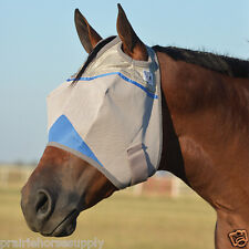 CASHEL CRUSADER FLY MASK for Standard HORSE Wounded Warrior Project BLUE Trim