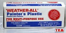 Trm Manufacturing Hd9 Weatherall Painters Plastic Roll Size 9 X 400 Clear