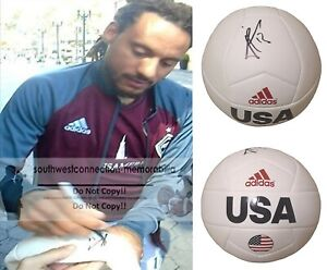 Jermaine Jones Signed USA Logo Soccer Ball Exact Proof Photo of Autograph COA