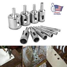10xSteel Diamond Drill Bit Hole Saw Glass Ceramic Marble Tile Cutter Rotary Tool