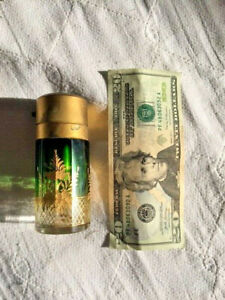 Antiques,Perfume,Cut Glass, Moser type, Green to clear w/ Gold, 1850-1899, Czech