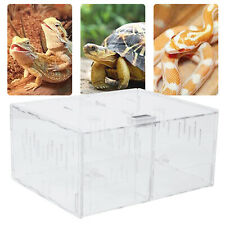 1/2Grid Acrylic Reptile Cage Breeding Box Tarantula Insect Lizard Pet Tank Sale