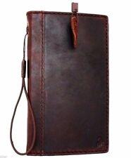 genuine vintage leather Case for Motorola Nexus 6  book slim wallet cover brown